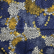 Floral Yellow Purple Blue Pattern